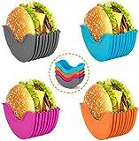 UIGJIOG Soporte para hamburguesas, reutilizable, caja fija para hamburguesas,...