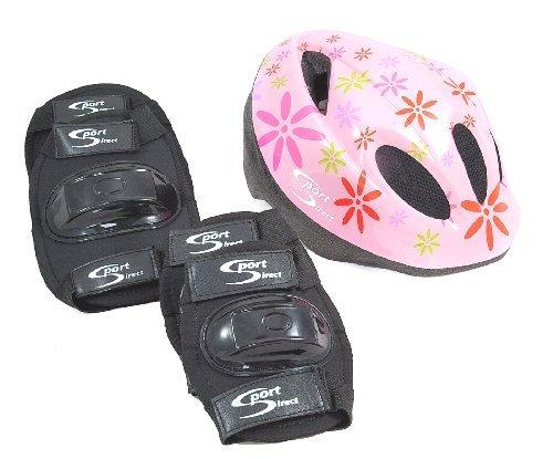 Sport Direct™ Casque de vélo VTT &Plus de sécurité de Jeu pour Enfant Château de Princesse Rose