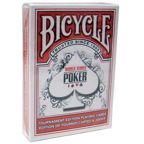 Fahrrad WSOP kunststoffbeschichtet Spielkarten - 1 rote Deck Poker size regulären Index Bicycle WSOP Plastic Coated Playing Cards - 1 Red Deck Poker Size Regular Index