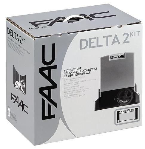 105630344- FAAC DELTA 2 KIT 230V AUTOMAZIONE PER CANCELLI SCORREVOLI AD USO RESIDENZIALE CON PESO MAX 500KG