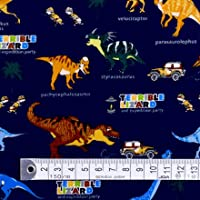 50cm(数量:5)から、10cm単位でカットいたします。商用利用OK 発見!探検!恐竜大陸(ネイビー) ラミネート(厚み0.2mm)生地 ハンドメイド 手作り用生地 商用利用可能 表示価格は10cmあたりの価格です。 T0265600