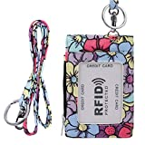 Badge Holder with Zipper & Lanyard, Printed ID Card Holder Wallet, Lanyard with Id Holder - 11