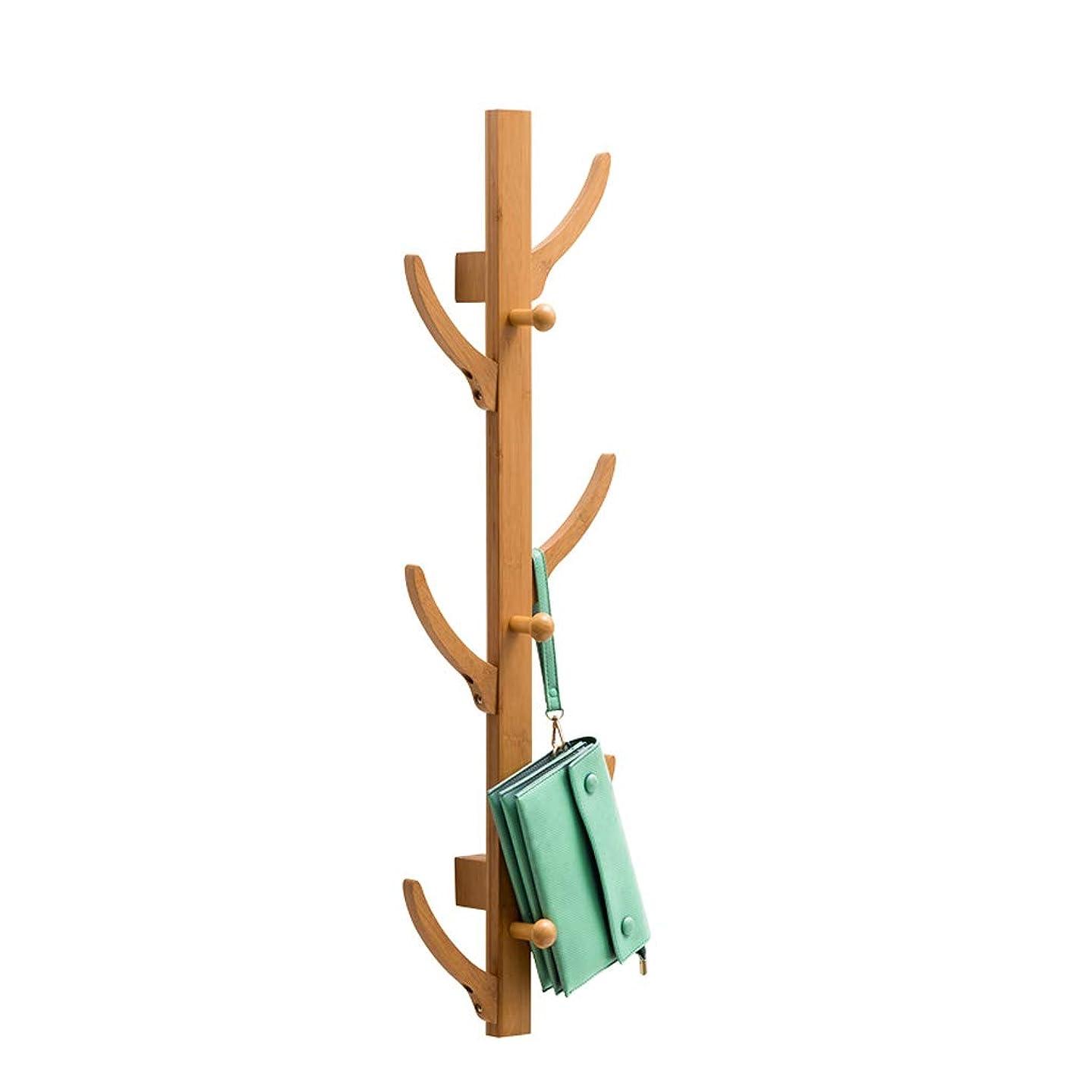 支援するスコア防止HXGL-ハンガー シンプルなファッションコートラックフロアラックソリッドウッドの寝室フックツリーいかだ収納アイテム家庭用フック (Size : S)