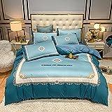 juego de funda de edredón 3d-Punto de algodón Lavado de agua Seda Gran versión de la ropa de cama de impresión Reino especial Down Set Individual cama doble de una sola almohada regalo-mi_1,8 m de ca