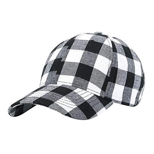 Unisex Tela Escocesa Imprimir La Gorra De Béisbol De Algodón Suave Impresión Cuadros Sombrero Al Aire Libre Ajustable Hip Hop Caps Sombreros para Los Hombres De Las Mujeres