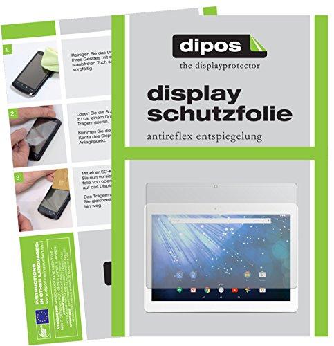 dipos I 2X Schutzfolie matt kompatibel mit Trekstor Surftab Breeze 10.1 Quad 3G Folie Bildschirmschutzfolie