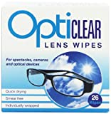 Opticlear Lens Wipes (Total 156 Wipes) by Opticlear