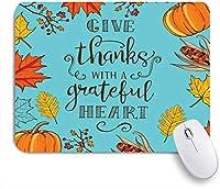 PATINISAマウスパッド カラフルな幸せな感謝祭ヴィンテージメープルホリデー自然オレンジ秋のお祝いトウモロコシカボチャシーズン ゲーミング オフィ滑り止めゴム底 ゲーミングなど適用 用コンピュータ