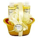Gloss - caja de baño, caja de regalo para mujeres - ¡ Caja de Regalo de Baño Retro Flor Blanca & Musk Scent - 4pcs