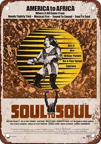 Kilburn 1971 Tina Turner Soul To Soul Retro Creative Wall Decoration Personality Trend Background Simple Style Iron Painting
