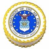 1/4 Sheet ~ Airforce Emblem Birthday Edible Icing Image Cake Topper