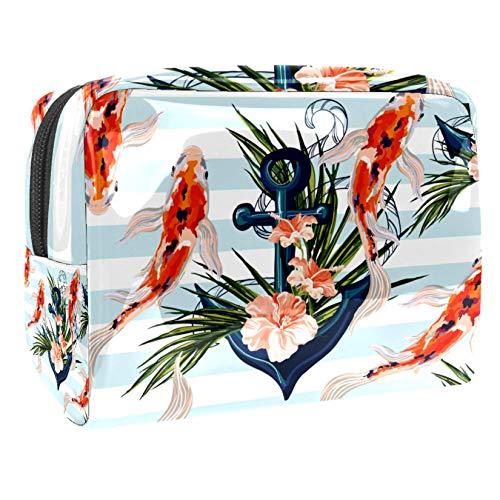 Bolsa de maquillaje portátil con cremallera bolsa de aseo de viaje para mujeres práctico almacenamiento cosmético bolsa grande carpa