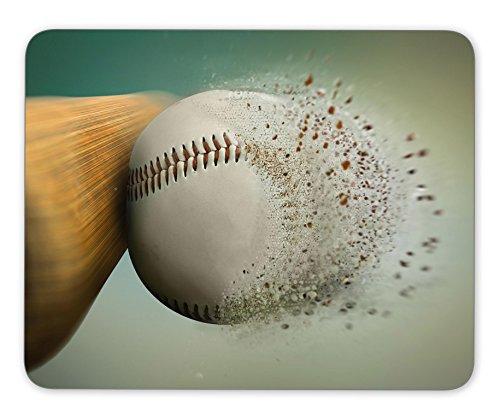 baseball hit with the ball disintegrating Mouse pad gaming mouse pad mice pad mouse pad the office mat Mousepad Nonslip Rubber Backing