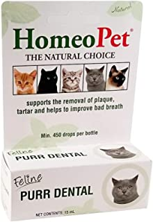 HomeoPet Feline Purr Dental, 15 mL, Tooth Care for Cats