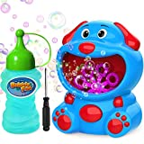WisToyz Bubble Machine Super Dog Bubble Blower 500+ Bubbles Per Minute, Bubble Machine for Kids Toddlers Toy Baby Bath Toys Indoor Outdoor Auto Bubble Maker Easy to Use 2 AA Batteries Needed