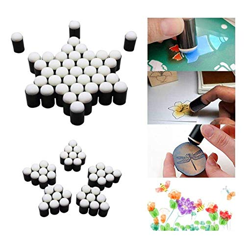 Finger Sponge Dauber voor het schilderen van inkt ambachten sterft krijt kaart maken Pack van 40 tekenen schuim Vinger stempelen krijt doe-het-zelf kunst gereedschap met opbergdoos