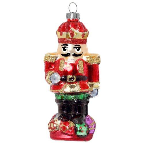 SIKORA BS334 Nussknacker Christbaumschmuck Glas Figur Weihnachtsbaum Anhänger