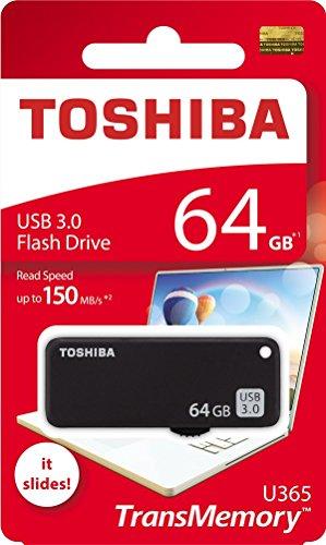 Toshiba 64GB 64G USB 3.0Flash Disk TransMemory U365USB3.0Flash Drive Lesen 150MB/s Slide (thn-u365K0640a4)