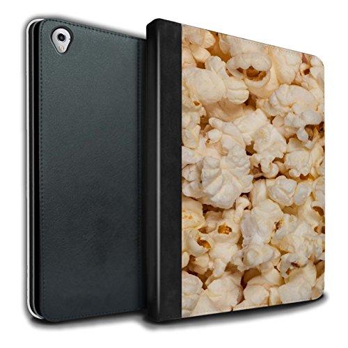 Stuff4 PU Cuero Funda/Carcasa/Folio Libro en para el Apple iPad Pro 9.7 Tablet/Serie: Aperitivos - Palomitas de maíz
