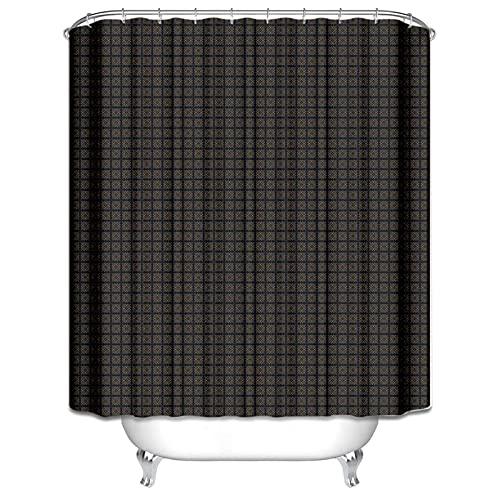 Duschvorhang Schimmelfrei Nashorn Duschvorhang Fenster Anti-Schimmel Wasserabweisend Showercurtain 180*200Cm Top Qualität Wasserdicht, Anti-Schimmel-Effekt 3D Digitaldruck Inkl. 12 Duschvorhangri