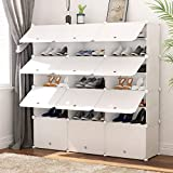 JOISCOPE Portable Shoe Storage Organzier Tower, Modular Cabinet Shelving for Space Saving, Shoe Rack Shelves for shoes, Boots, Slippers (3x7-tier)