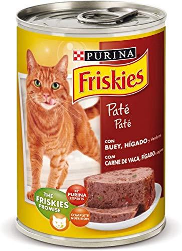 Purina Friskies Paté Pienso para Gato Adulto Buey y Higado 24 x 400 g