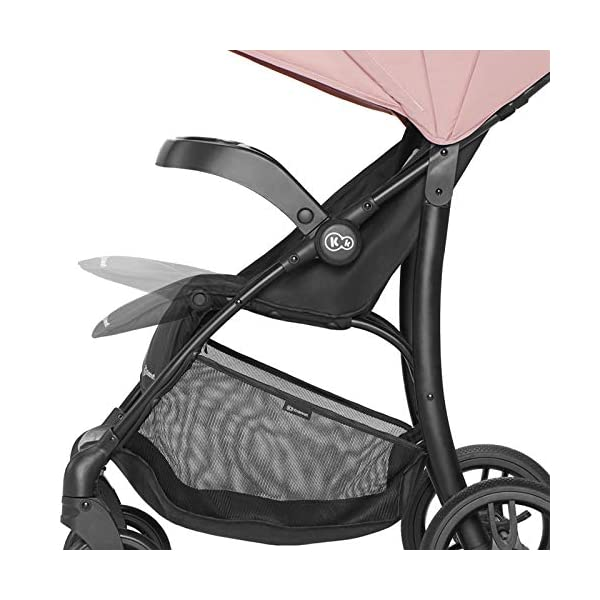 Kinderkraft Lightweight Stroller Cruiser, Baby Pushchair, Foldable, Lying Position, All Wheels Suspension, Big Ajustable Hood, with Accessories, Footmuff, from Birth to 3.5 Years, 0-15 kg, Gray kk KinderKraft STOP&GO BRAKE - Which allows you to quickly lock/unlock the wheels in any type of shoes EASY FOLDING - The stroller can be easily folded or unfolded with just a single move TRAY-SHAPED SEAT HANDLE - Provides perfect space for both playing and feeding. It can be easily detached and washed under running water 11