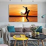 Moderne abstrakte Ballerina Kunst Poster und Druck auf Leinwand Wandkunst Ölgemälde abstrakte dekorative Malerei für Wohnzimmer (kein Rahmen) A3 60x80CM