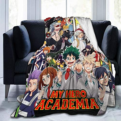 Jiunaqiw My Hero Academia Throw Blanket Ultra-Soft Cozy Flannel Plush Blanket for Sofa Bed Couch 50'X60'