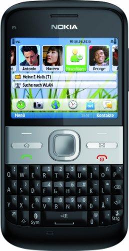 Nokia E5-00 Smartphone (6cm (2,3 Zoll) Bildschirm, Bluetooth, 5 Megapixel Kamera, QWERTZ-Tastatur) schwarz