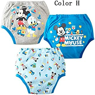 Best Quality - Baby Nappies - 3pcs waterproof potty training pants reusable kids underwear cloth nappy inserts cartoon toilet underpants - by Melissa - 1 PCs