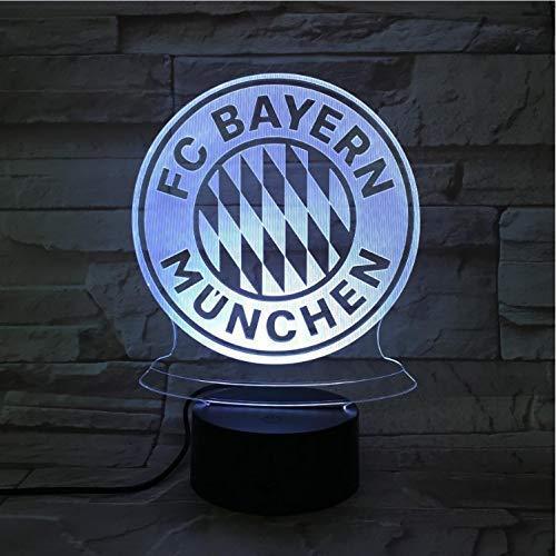 Fußball Team Club Logo Usb 3D Led-Nachtlicht Jungen Kind Kinder Fans Geburtstagsgeschenke Fußball Schreibtischlampe Schlafzimmer