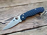 Custome scales for Spyderco Paramilitary 2. Model: ENCO. Black G10 (Knife and Spacer not included)