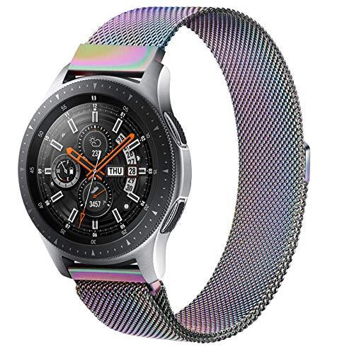 ZGCE Armband Kompatibel mit Samsung Galaxy Watch 46mm / Galaxy Watch 3 45mm / Gear S3 Frontier / S3 Classic, 22mm MetallArmband für Huawei Watch GT / GT 2 46mm / Polar Vantage M (Bunt)