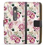 DeinDesign Étui Compatible avec Motorola Moto X Play Étui Folio Étui magnétique Fleurs Motifs...