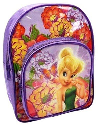 Disney Fairies Tinkerbell lila Schule Tasche Rucksack Rucksack mit Vortasche