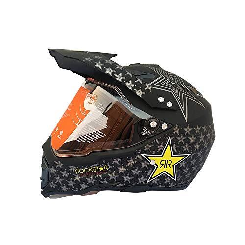 Casco integral XIAMI para adultos, negro mate, carcasa de ABS, tiene un parasol extraíble y un parabrisas deslizante, tanto para hombres como para mujeres, se pueden usar en talla M