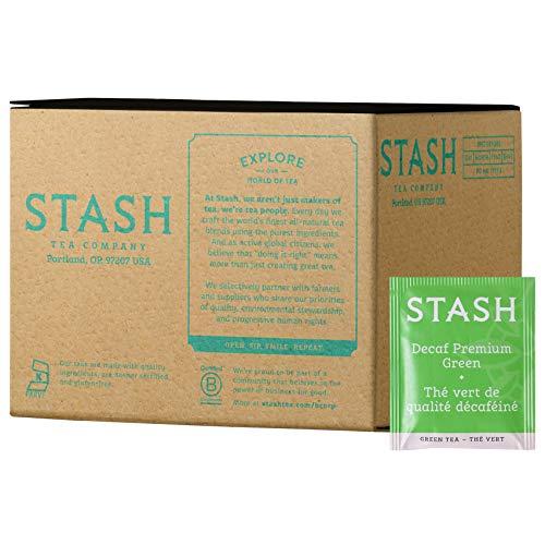 Stash Tea Decaf Premium Green Tea, 100 Count Box of Tea Bags in Foil (packaging may vary)