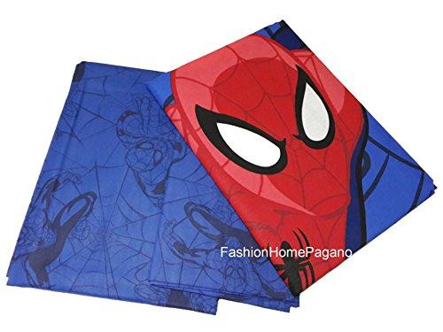 Marvel Spiderman Ropa de Cama, una Plaza, Algodón, Azul