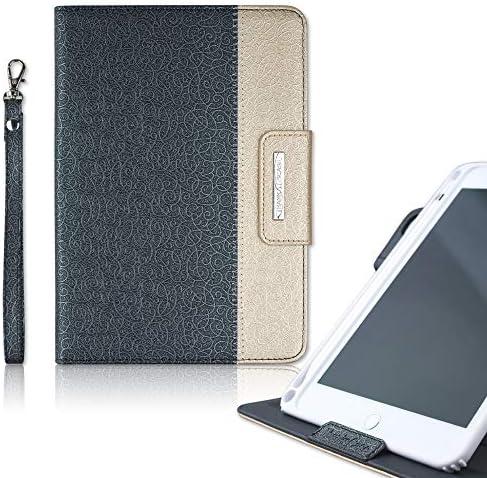Thankscase Compatible for iPad Mini 5 Mini 4 Soft TPU case Build in Pencil Slot Rotating Leather product image