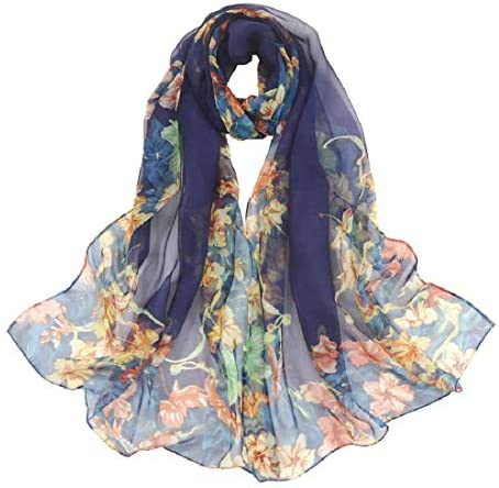 Scarfs for Women Lightweight Print Floral Pattern Scarf Shawl Fashion Scarves Sunscreen Shawls product image