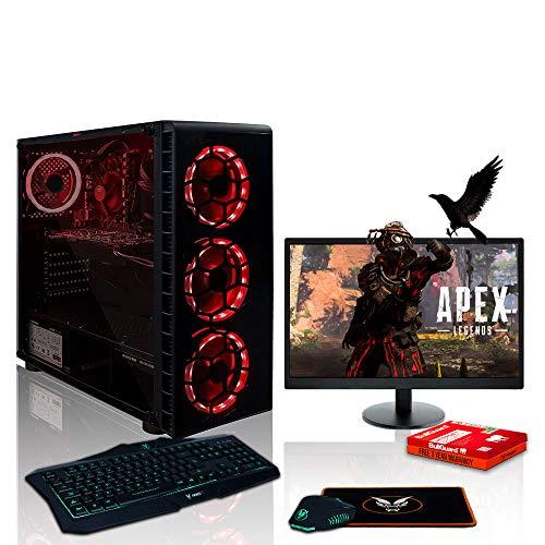 Fierce EXILE RGB Gaming PC Pacchetto - Veloce 3.9GHz Quad-Core AMD Ryzen 3 3100, 1TB Disco Rigido, 16GB 3000MHz, NVIDIA GeForce GTX 1650 4GB, Tastiera (UK/QWERTY), Mouse, 21.5 pollici Monitor 1095461