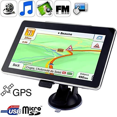 PengSF PSF GPS-navigatiesysteem 7,0 inch touchscreen, 4 GB intern geheugen, mini-USB-poort, touch-pen, spraakoverdracht, FM-radio, ingebouwde luidspreker, resolutie: