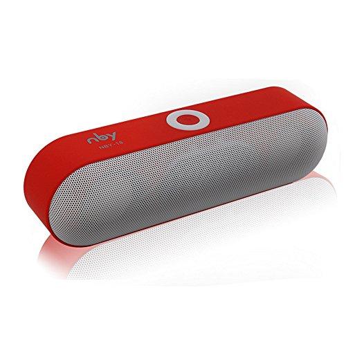 NBY-18 Bluetooth Audio Tarjeta de conexión inalámbrica Audio computadora Audio Mini Audio Radio,Altavoces para el Exterior,Altavoces portátiles Bluetooth,Altavoz Inteligente,Sonido Estéreo (Ro