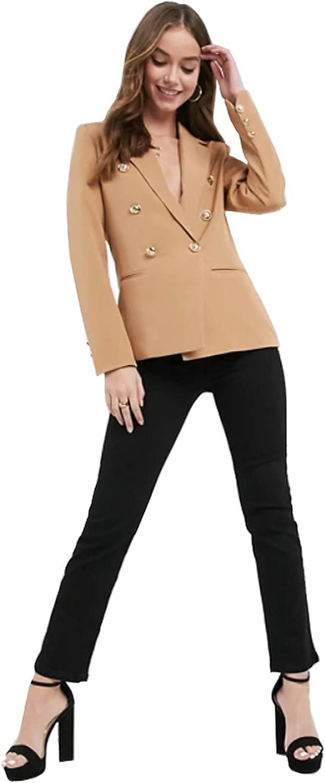 Women's Two Piece Office Lady Suit Set Long Sleeve Blazer Jacket Pant