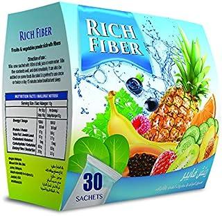 مسحوق الفواكه والخضروات الغني بالالياف من ريتش فايبر (عبوة تحوي 30 كيس بوزن 10 غرام لكل منها)