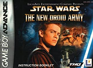 Star Wars - The New Droid Army GBA Instruction Booklet (Nintendo Gameboy Advance Manual ONLY - NO GAME) Pamphlet - NO GAME INCLUDED