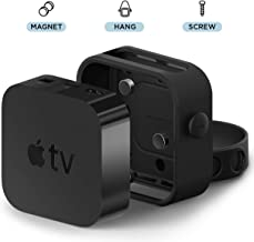 elago Apple TV Mount - Easy Installation : Magnet/Screw/Strap, Premium Silicone - Compatible with Apple TV 4K, 5th Generation