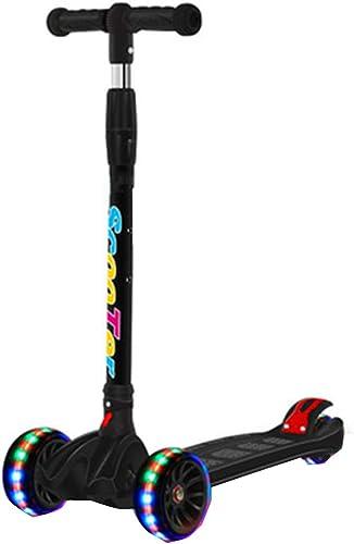 Kick Scooters Flashing Wheels Musik Faltbare 4-Rad-Roller für Kinder Erholung im Freien T-Bar Glattes Fahren Lean to Steer Leicht zu tragen Leichtgewicht