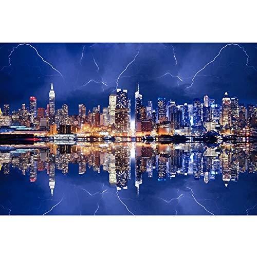 Bria Manhattan - Puzzle de noche (500/1500/2000/3000/4000/5000/6000 piezas), diseño de león Tangram 0226